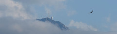 Observing the Observer (Frank ) Tags: france pyrenees obsevatory clouds sky fog misty summer travel sonya7r canonef70200lis 14xextender observer picdumidi fly float flow birds europe holiday mountain pano pan panorama