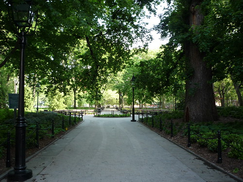 Washington Square Park, before the reopening
