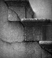 cracked (peggyskng) Tags: old blackandwhite stairs ga decay steps savannah oldbuilding cracked rundown peggyskng