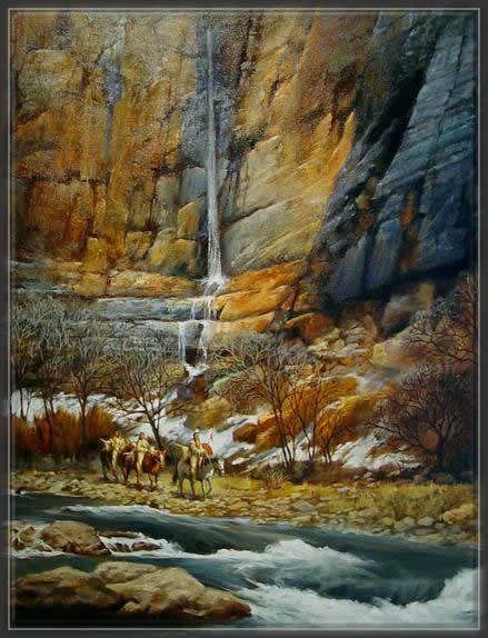 painting,Amerindiens