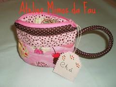Tea Cup Pouche (Atelier Mimos da Fau) Tags: mimo cupcake patchwork ch ncessaire troquinha xcaratecido