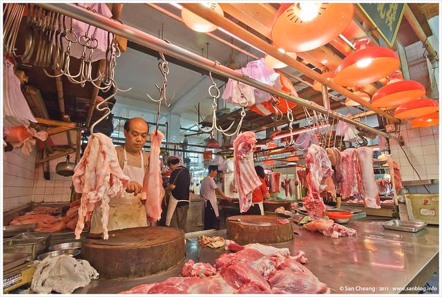 澳門紅街市 - 肉類檔