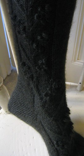 rambling vine socks