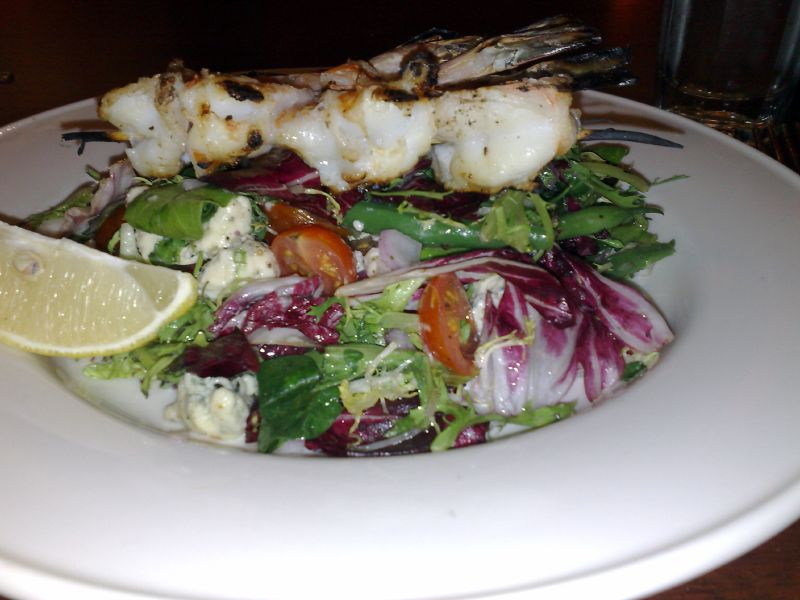 Ted's Grilled Shrimp Green Salad