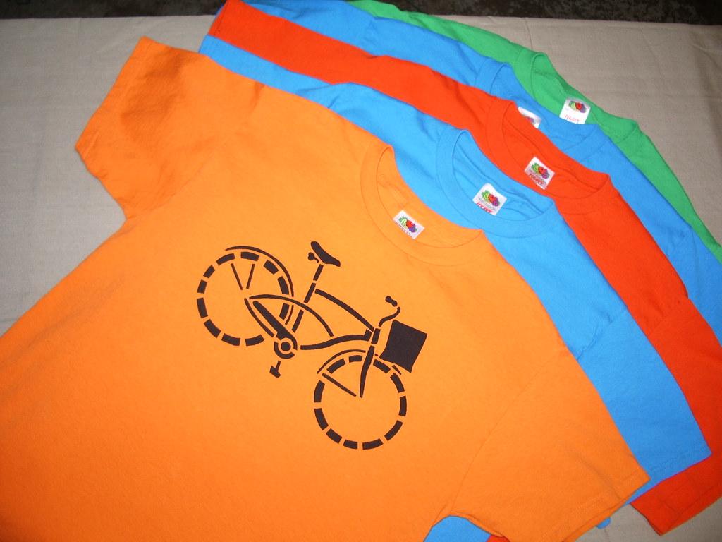 Bicycle Stencil T-Shirt