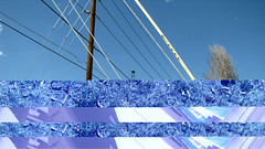 (malloryfreed) Tags: blue sky grass collage colorado denver powerlines harddrive