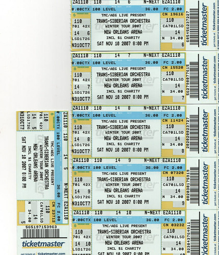 Trans Siberian Orchestra Tickets - November 10, 2007