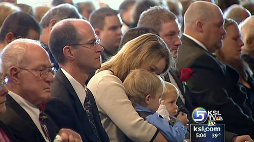 Family at the funeral
