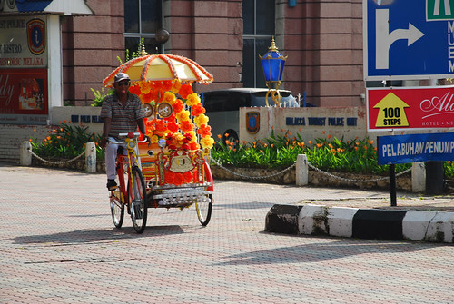 Fun trishaw driver