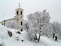 Havihegyi Kápolna - Pécs - Hungary (.e.e.e.) Tags: winter plants snow church architecture town hungary photographer olympus pécs naturesfinest e400