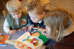 Brianna, Garrett, and Bennett at the Library (14)
