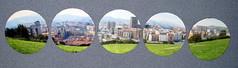 Posavasos. (naiarais) Tags: parque foto handmade mosaico panoramica carton vistas bilbo artesania manualidades etxebarria hechoamano posavasos hechopornaiara