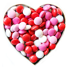M&M's Sweet Heart (babybee) Tags: mms heart chocolates valentine whitebackground sweets valentines canon5d sweetheart cookiecutter onwhite heartshaped cleanshot fotografikas valentinesmms