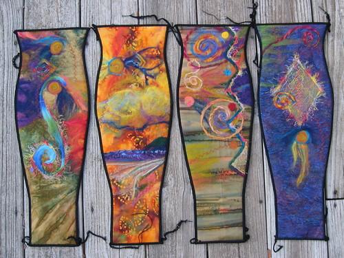 Fiber Art Vase..... by LadyDoodleBug.