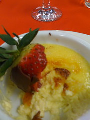 Creme Brulle with Chocolate Strawberries