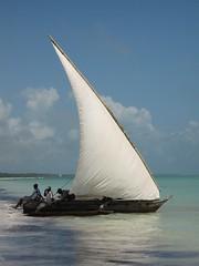 Sail Away (Heaven`s Gate (John)) Tags: africa blue sea vacation sky holiday beach relax boat fishing shadows sail zanzibar sailaway 10faves johndalkin heavensgatejohn anawesomeshot onlythebestare