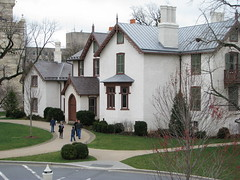 The north elevation of President Lincoln's Cottage, as seen from the Robert H. Smith Visitor Education Center.