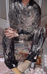 Messed (splishsplash1123) Tags: eggs nylon wam shavingcream gunge