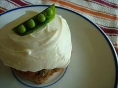 Snap Pea Cupcake