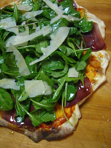 Bresaola, Arugula and Parmigiano Pizza