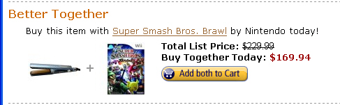 Babyliss Flat Iron & Super Smash Bros Brawl: Better TOGETHER!