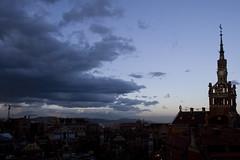 Hospital Sant Pau - Tormenta (Bernat Fortet) Tags: barcelona night hospital paisaje habitacin modernismo paisajeurbano hospitalsantpau bernatfortet pwpartlycloudy