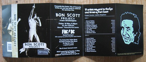 bon scott project cassette insert black side