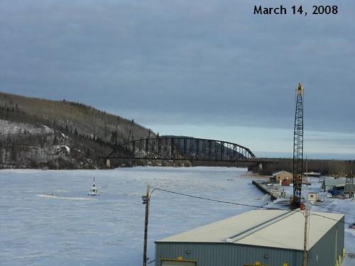TRIPOD LOCATION ON THE TANANA RIVER FOR THE NENANA ICE CLASSIC (2008)