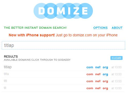 domize domain name