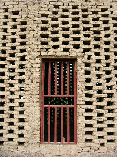 Grape drying house in Turpan, Xinjiang Province, China