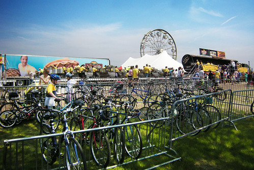 World's Largest Brat Fest and Its Associated Bicycle Parking Lot