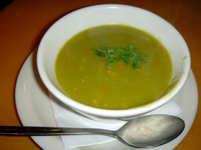 Smashed Pea Soup