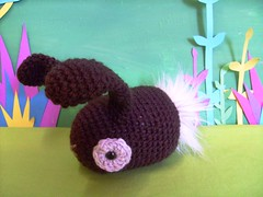 custom brown bunny (rosie.ok) Tags: brown rabbit bunny toy handmade crochet softie plushie amigurumi customised