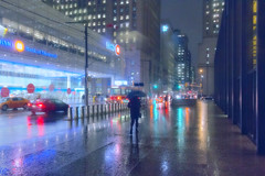 I love a rainy night! (A Great Capture) Tags: rain raining umbrella agreatcapture agc wwwagreatcapturecom adjm ash2276 ashleylduffus ald mobilejay jamesmitchell toronto on ontario canada canadian photographer northamerica winter l'hiver 2017 city downtown lights urban night dark nighttime weather colours colors colourful colorful light cityscape urbanscape eos digital dslr lens canon 70d wet water agua eau reflection mirror glass outdoor outdoors vibrant cheerful vivid bright overcast rainyday rainy cloudystreetphotography streetscape street calle car cars streetcar trolley ttc transit commision person people walk walking