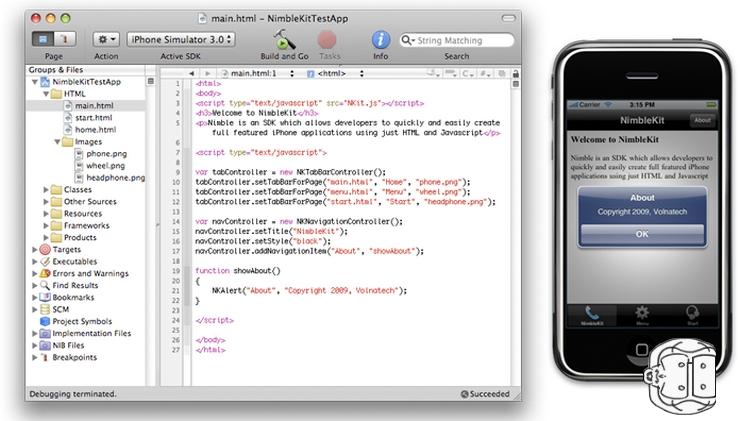 créer application développer iphone facile