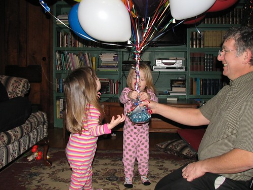 Grandpa's birthday balloons