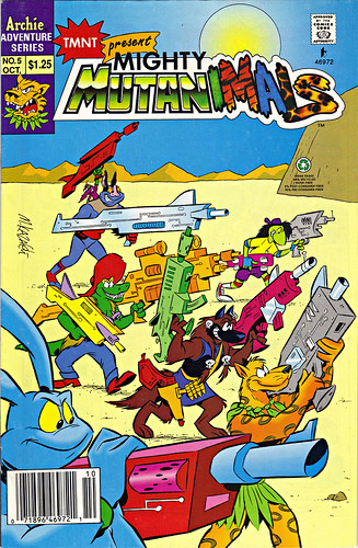 Mighty Mutanimals #5 .. art by Mike Kazaleh  (( 1992 ))