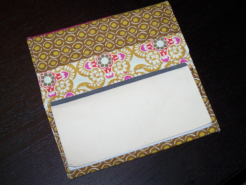 checkbook cover, inside