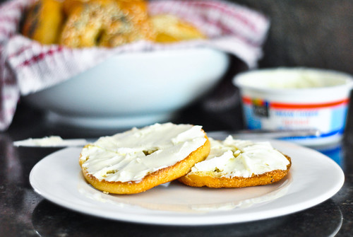 bagels and cream cheese