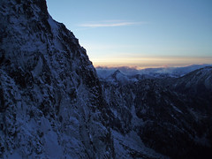 Finished ascending Aasgard during the evening and spent the night near Brynhild (Isolation) Lake.
