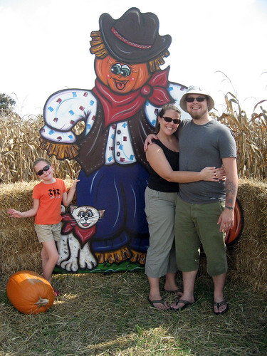 Family photo with Mr. Scarecrow