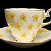 Gladstone Bone China Floral Teacup & Saucer