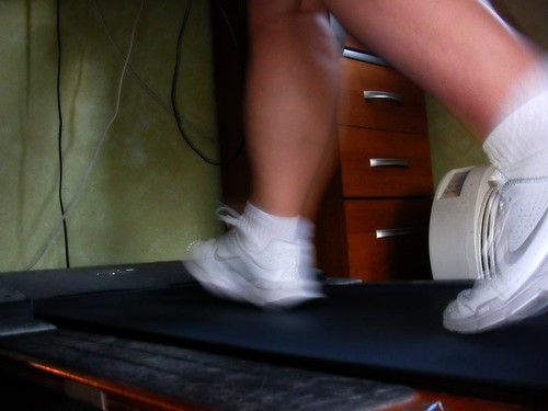 Running on my treadmill from Flickr