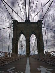 Bike or Walk across the Brooklyn Bridge? (Karnevil) Tags: nyc bridge ny newyork canon manhattan brooklin brooklinbridge usanewyorkcity