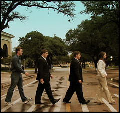 Houston Street Meets Abbey Road (sarowen) Tags: abbeyroad houstonstreet collegestation thebeatles aggies texasamuniversity collegestationtexas mywinners texasamcampus plantdesign chemicalengineers aggieengineers