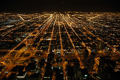Ribbons of Light (caribb) Tags: travel urban usa chicago tower america us illinois downtown view unitedstates sears visit tourist vista touring etatsunis vistor