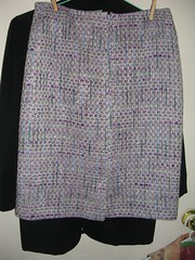 finished purple skirt