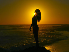 The Mermaid (Timhaiti) Tags: ocean sunset sea woman sun hot beach water girl beautiful silhouette lady canon fav mermaid inspirational soe blueribbonwinner impressedbeauty superbmasterpiece firsttheearth diamondclassphotographer theunforgettablepictures eliteimages betterthangood