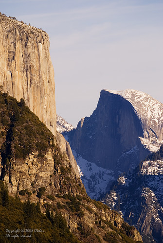 El Capitan and Half Dome