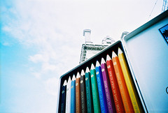 giant pencil case (lomokev) Tags: color colour london colors pencil lomo lca xpro crossprocessed xprocess colorful colours case lomolca colourful agfa jessops100asaslidefilm agfaprecisa agfaprecisa100 cruzando precisa jessopsslidefilm fiel:name=080125lomolca39